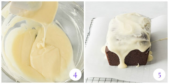how to glaze gingerbread cake
