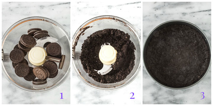 oreo crumb crust step by step