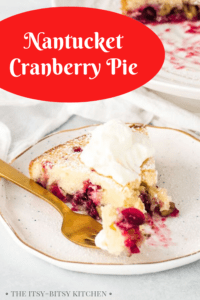 pin image for Nantucket cranberry pie