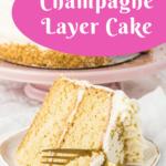 champagne layer cake pin image