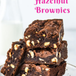 pin image for Nutella brownies