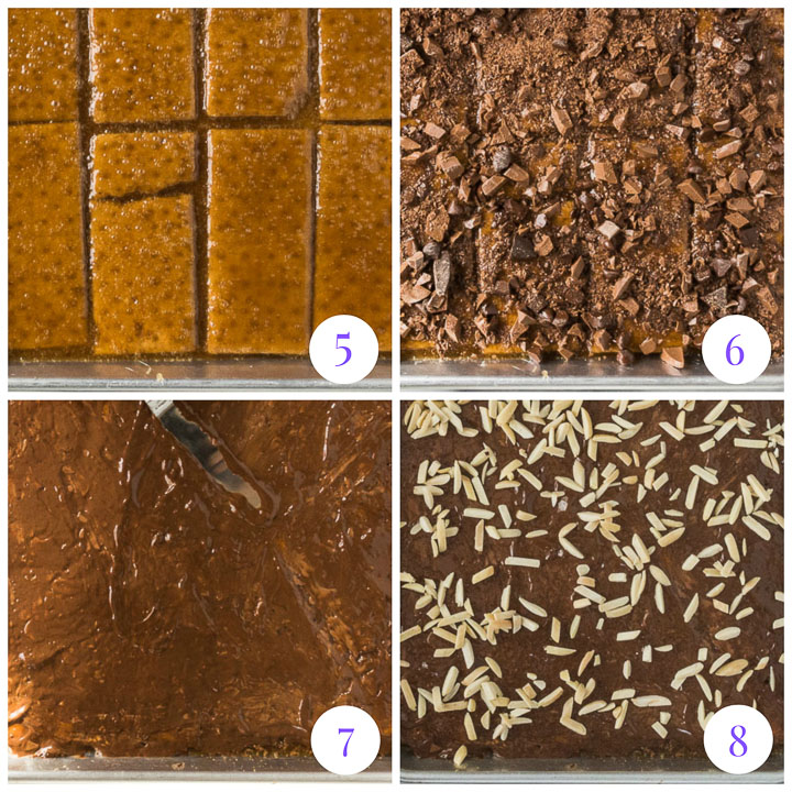 how to make graham cracker candy step by step
