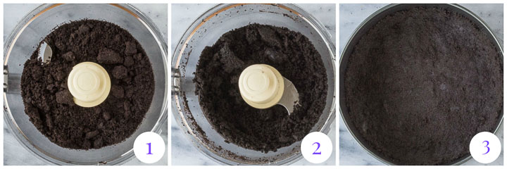 how to make chocolate cookie crumb crust step by step