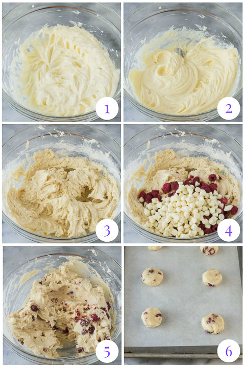 how to make raspberry cheesecake cookies step by step