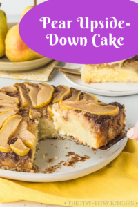 pin image for pear upside down cake