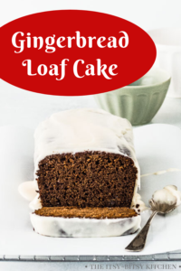 pin image for gingerbread loaf cake