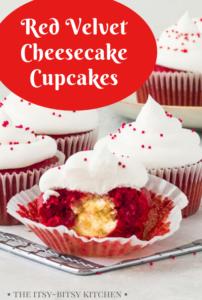 red velvet cheesecake cupcakes pinterest image