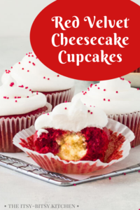 pin image for red velvet cheesecake cupcakes