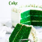 Pinterest image for green velvet cake