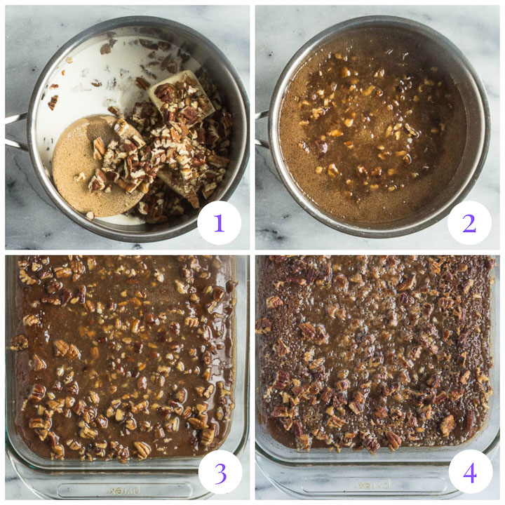how to make praline topping