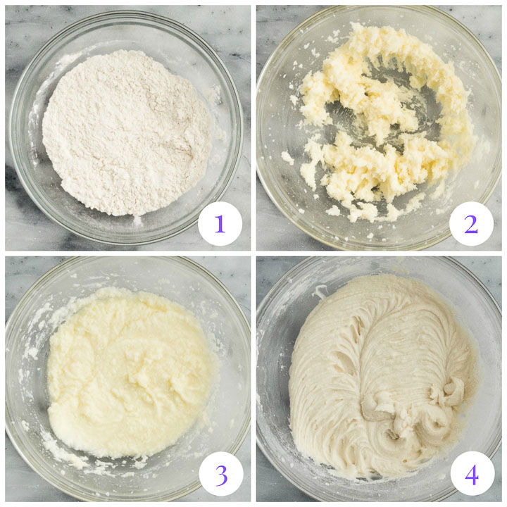 how to make candy cane cupcake batter step by step