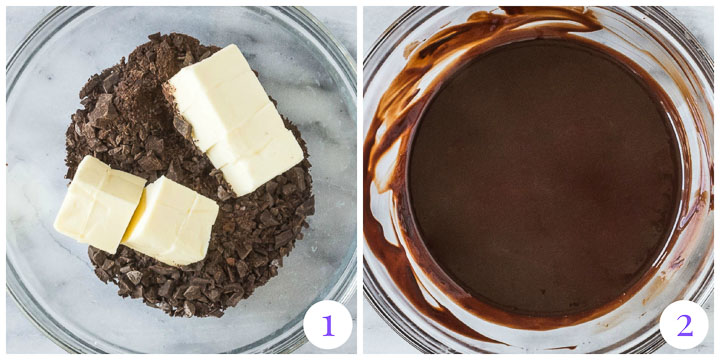 how to melt chocolate for brownies