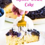 blueberry upside-down cake Pinterest image