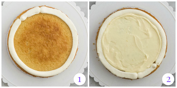 how to assemble coconut layer cake