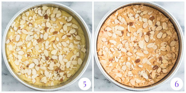 how to finish easy almond cake
