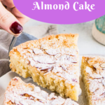pin image for Swedish almond cake