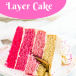 pin image for pink ombré cake