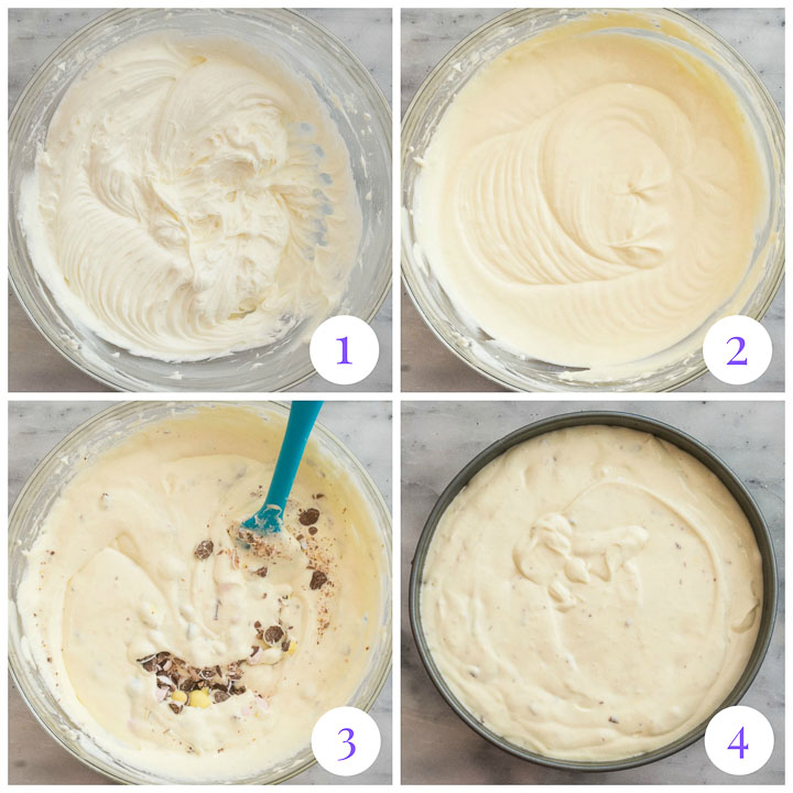 cheesecake filling step by step