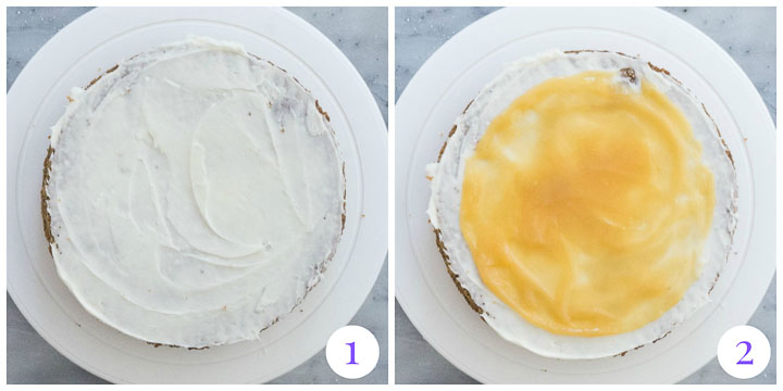 how to assemble cake