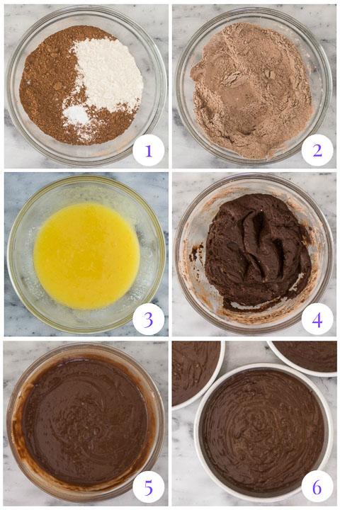 how to make chocolate cake step by step