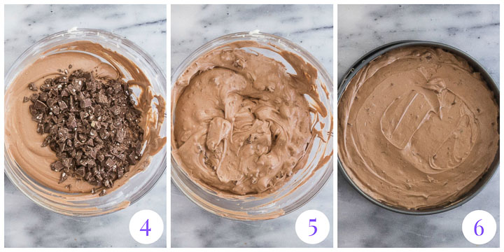 how to make cheesecake filling steps 4 through 6