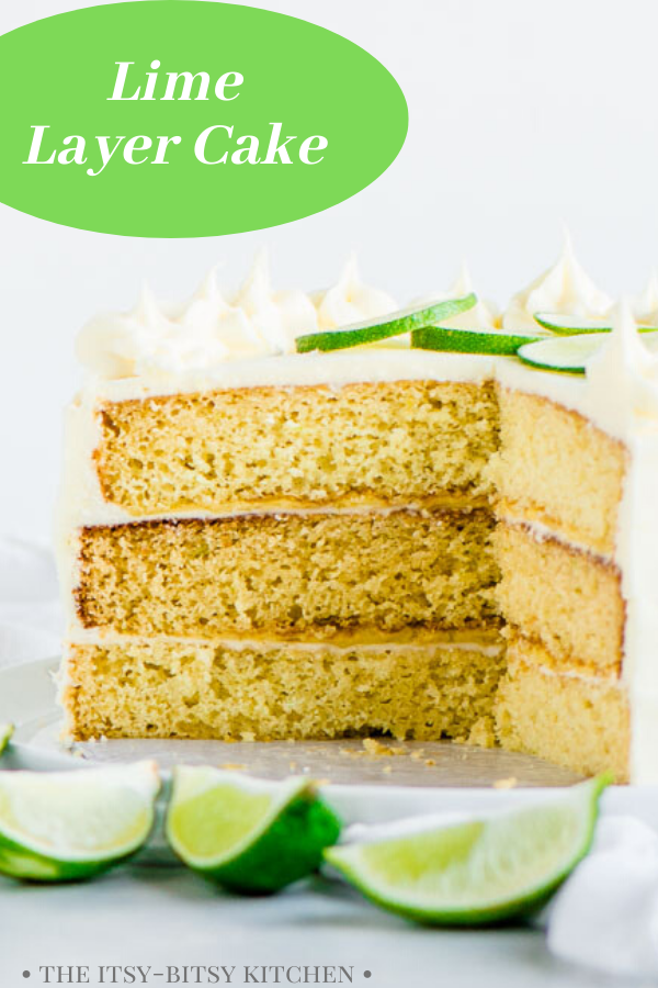Pinterest image for cake with text overlay