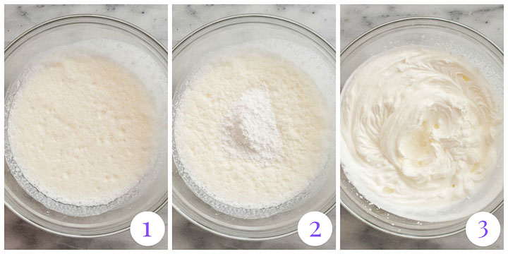 how to make whipped cream topping step by step