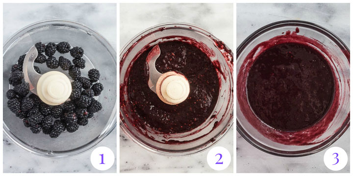 how to make blackberry puree