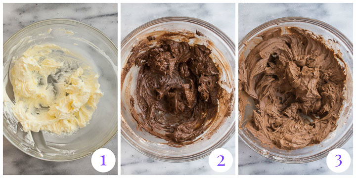 chocolate frosting step by step