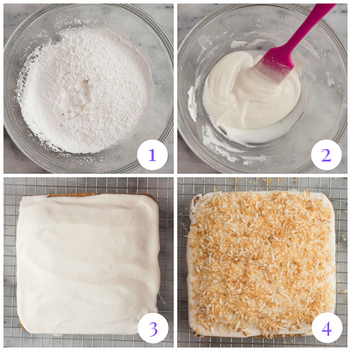 how to make coconut glaze step by step