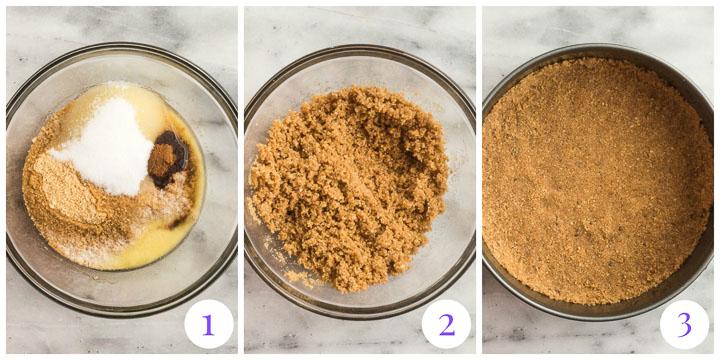 graham crust step by step photos