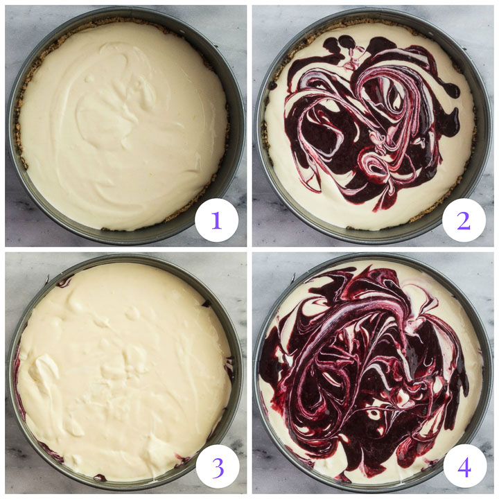 how to assemble cheesecake