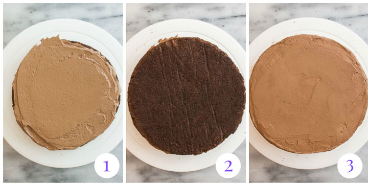 how to assemble cake step by step
