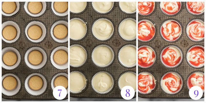 how to assemble cheesecakes