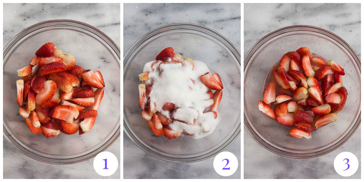 how to macerate strawberries in sugar