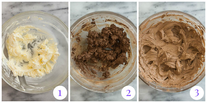 how to make chocolate frosting step by step