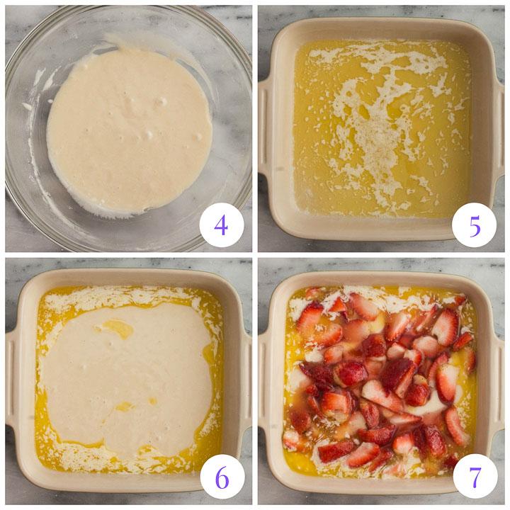 how to make strawberry dump cake