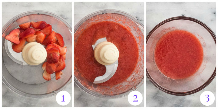 how to make strawberry puree