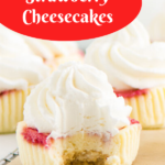 Pinterest image for cheesecake cupcakes