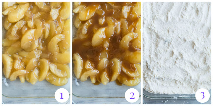 how to make caramel apple dump cake step by step