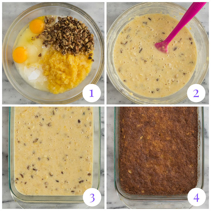 how to make pineapple dump cake step by step