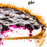 Pinterest image of sliced pie in a dish with text overlay
