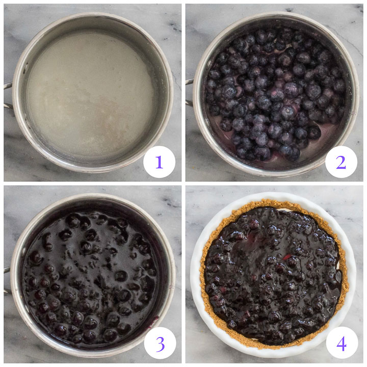 how to make blueberry topping step by step