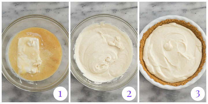 how to make cream cheese pie filling
