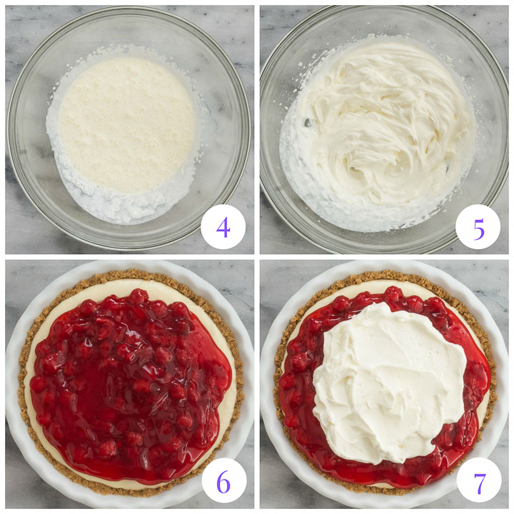 how to finish pie with cherry topping and whipped cream
