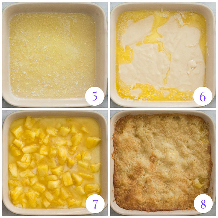 how to finish easy pineapple cobbler