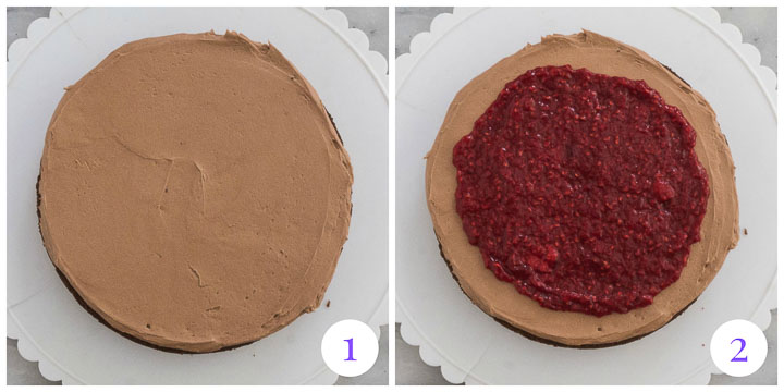 how to assemble raspberry cake