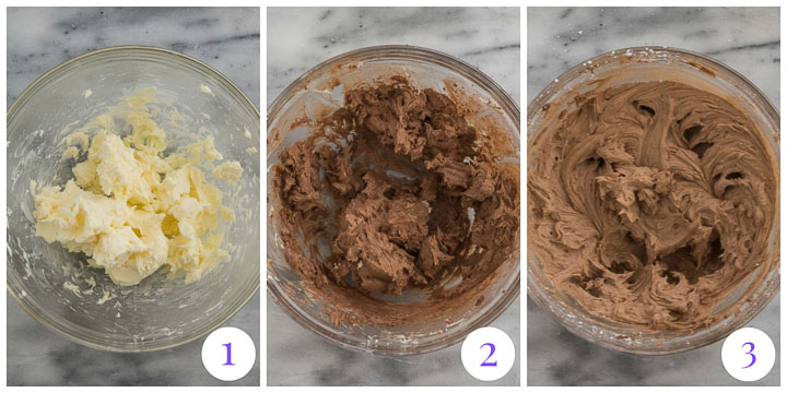 chocolate buttercream frosting step by step