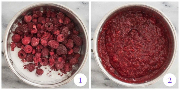 raspberry filling step by step