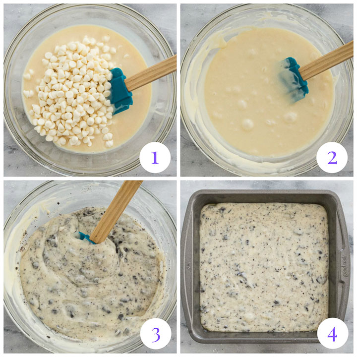 how to make easy Oreo fudge step by step